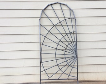 Spider Web Steel Garden Trellis. Plant and Vine Trellis. Lattice For Plants.
