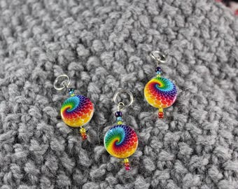 Rainbow Twist Stitch Markers