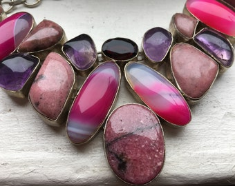 ON SALE Multi-Gemstone Chocker Necklace