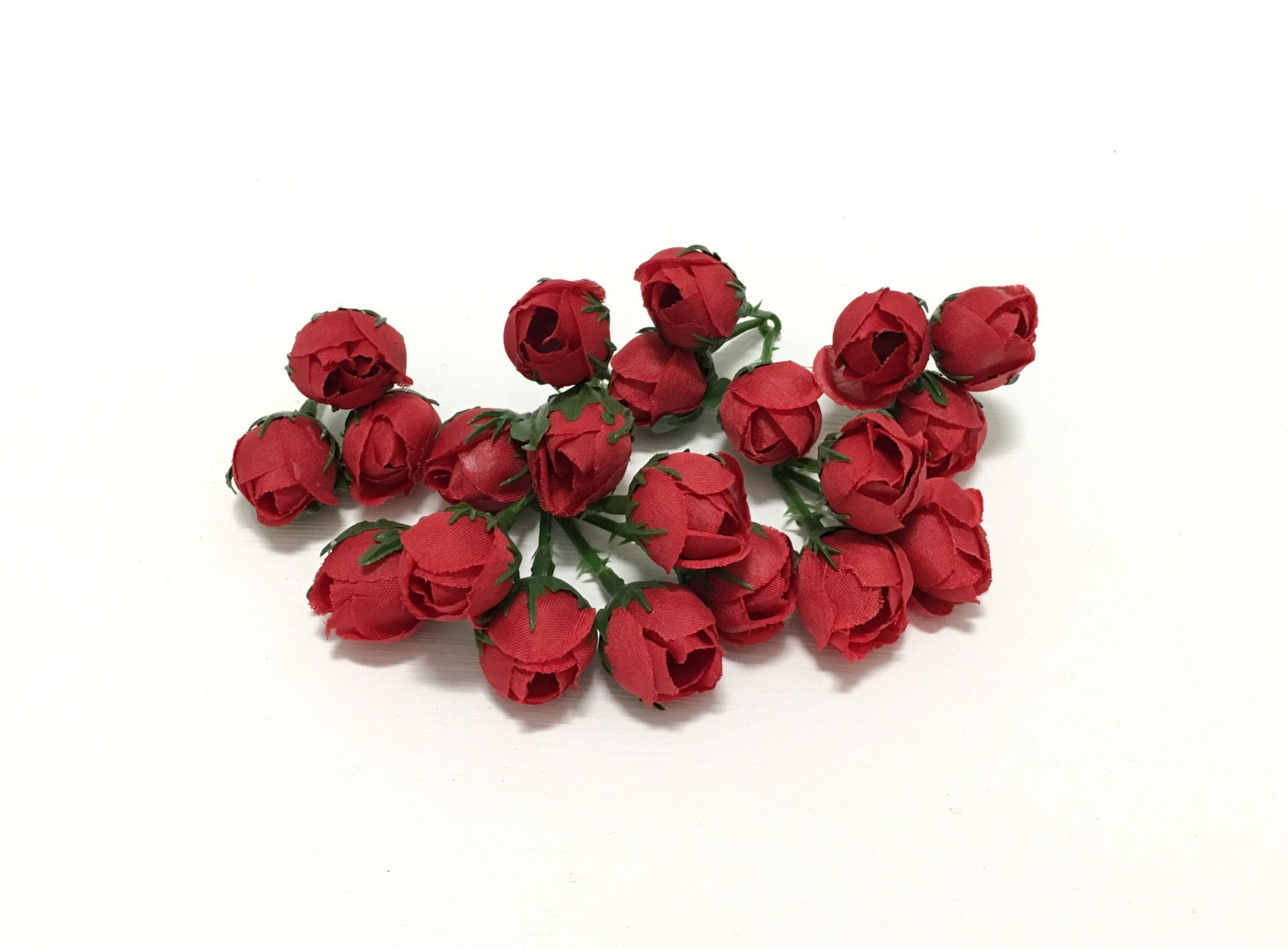 21 tiny red mini rose buds very small flowers artificial flowers sold by blissfulsilks mightylinksfo