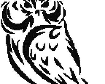 Owl 001, Cross-Stitch Pattern, Pdf Zip File, Immediate Download, Great DIY Gift