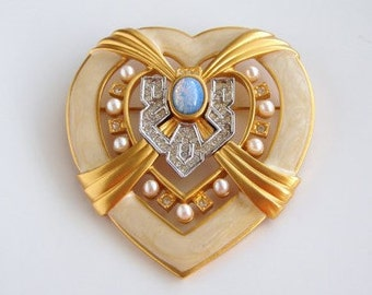 Elizabeth Taylor Brooch - Heart of Hollywood Pin - S1724