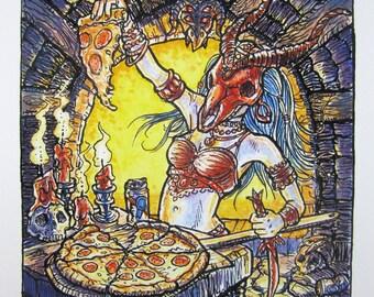 Pizza Ritual — giclée print