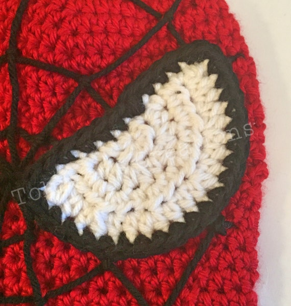 Spider Man Hat Crochet Pattern With Web Stitching Guide From
