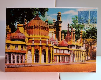 Royal Pavilion, Brighton Dome, Brighton, Sussex, Regency, Victorian, Vintage, British, Prince Regent, Palace, Corn Exchange, Greeting Card.