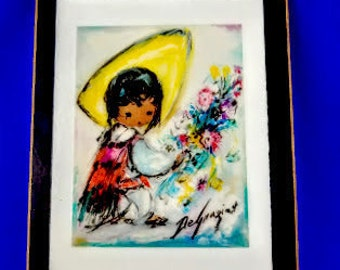 Flower Vendor by Ted DeGrazia