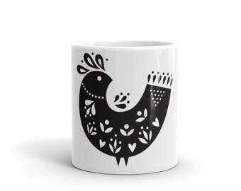 Folk Art Bird Mug