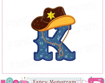 cowboy monogram k appliquecowboy letter k appliquekfont kcowboy designbirthday appliquekcowboyboys appliquemachine embroidery 01
