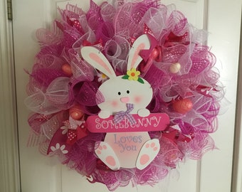 Some bunny loves you wreath