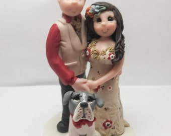 Wedding Cake Topper with Dog