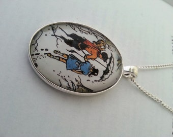 Narnia Lucy and Mr Tumnus Necklace