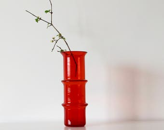 Vintage Red Glass Vase