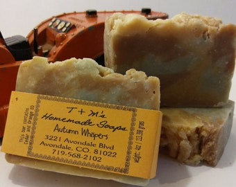 Autumn Whispers homemade bath and body soap bar