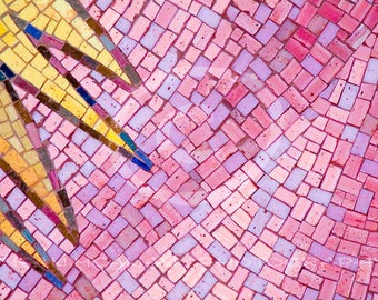 Photoshop Overlay, Pink Mosiac Texture, Clip Art, Instant Download, Mosaic Photo, Digital Download, Banner Art, Scrapbook, Sun Ray Mosaic