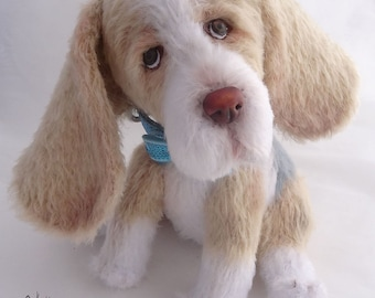 Crocheted dog beagle, beagle gift, gift for beagle lovers, toy handmade dog, soft toy dog, cute knitted dog, small dog, stuffed plush dog