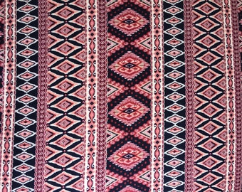Aztec Boho Double Brushed Poly Fabric by the yard