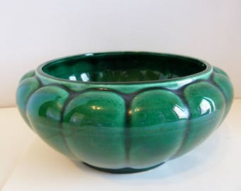 Unmarked, Vintage Green Planter, Nice Fathers Day Gift, Plant Not Included
