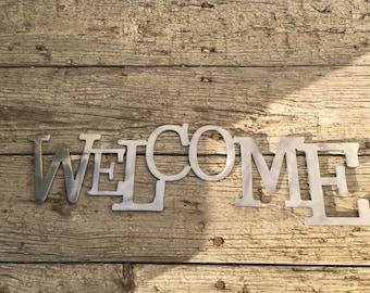 Welcome Sign Metal Art