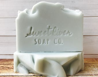 Willapa Bay Soleseife Salt Bar, Sweet River Soap Co, Cold Process, Salt Water