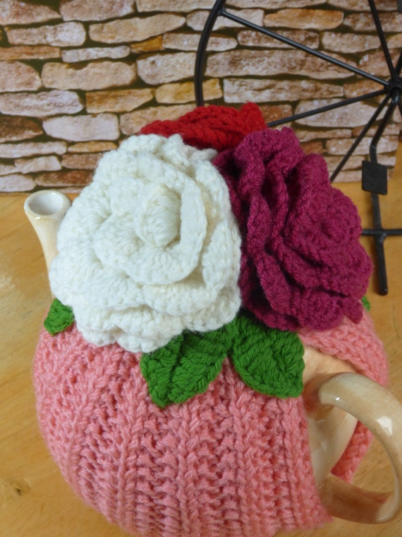 Flowers teapot cosy easter gifts knitted teapot cosy flowers teapot cosy easter gifts knitted teapot cosy handmade teapot cosy teapot cozy knitted flowers giant roses teapot cosy negle Gallery