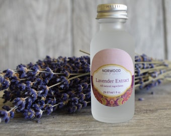 Pure Lavender Extract-baking extract, Flavor oil, Gourmet foodie, Cooking gift for mom Cooking gift for her