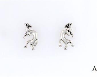 Sterling Silver Kokopelli Choice - Charm, Post, Dangle Earring