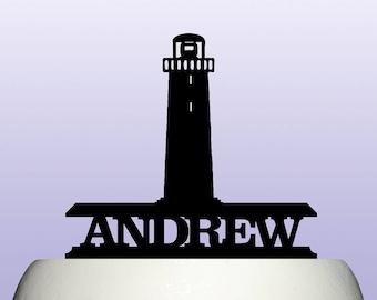 Personalised Acrylic Lighthouse Cake Topper