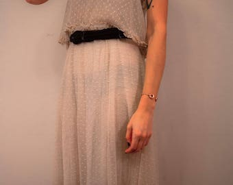 Free People 1920s Style Lace Overlay