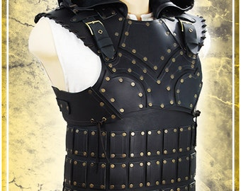 LARP Scoundrel Leather Armor with Hood
