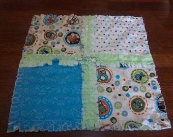 Life's a Hoot Mini Security Blanket / Rag Quilt
