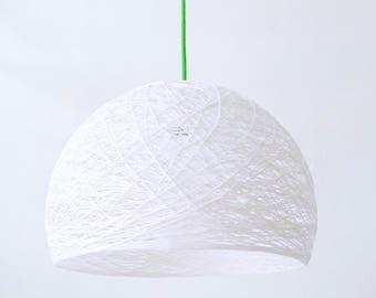 "Plug in hanging light modern design - Plug in pendant lamp - Plug in hanging lamp - Pendant lamp ceiling - HALF SPHERE (14"" - 35 cms.)"