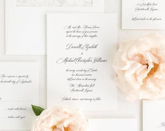 Danielle Wedding Invitations - Sample