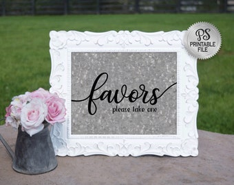 Wedding Favors Sign | Printable Favors Sign, Galvanized Wedding sign, Country Wedding Sign, Barn Wedding Decor, Rustic Wedding sign, DIY