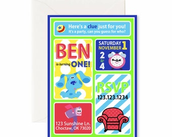 Blues Clues Party Invitations - Birthday