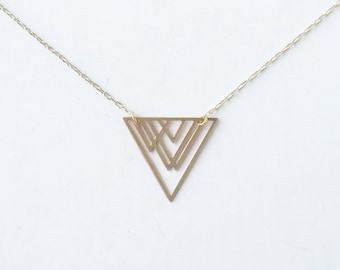 Overlapping Triangles Necklace | ATL-N-121