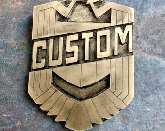 Personalised Custom Judge Dredd Badge - Movie size