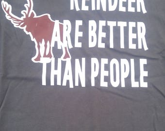 Disney Frozen reindeer and better than people Kristoff tee
