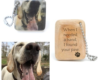 Personalized Pet Photo Keychain - Pet Mom personalized - Dog lover gift - Pet memorial keychain - Photo Keychain - Pet Gift