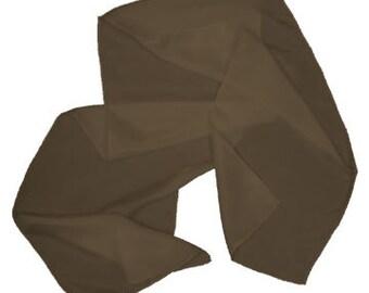 "Mahogany 100% Habotai Silk Scarf - 8""x 54"" - Dyed"
