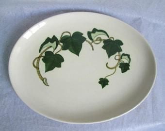 "Vintage Metlox Poppytrail California Ivy 13"" Oval Platter"