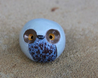 Clay Owl Totem Figurine