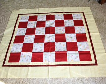 Boats and Fish crib quilt top