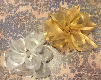 Texas double stack twist hair bow