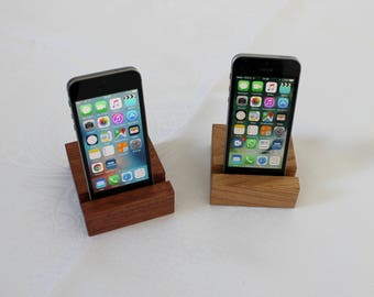 Phone Stand. Phone Holder. Wooden Phone Stand. iPad Holder. Tablet Stand. Tablet Holder. Handmade in Sapele or Oak Hardwood