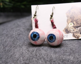 Blue Eyeball Earrings
