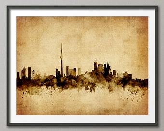 Toronto Skyline, Toronto Canada Cityscape Art Print (1783)