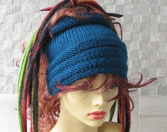 Blue Dreadlocks headband, dreads wrap dread tube Turquoise