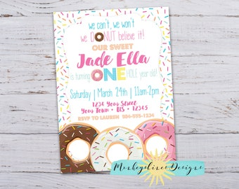 Donut Believe It Birthday Party Invitation - ANY AGE
