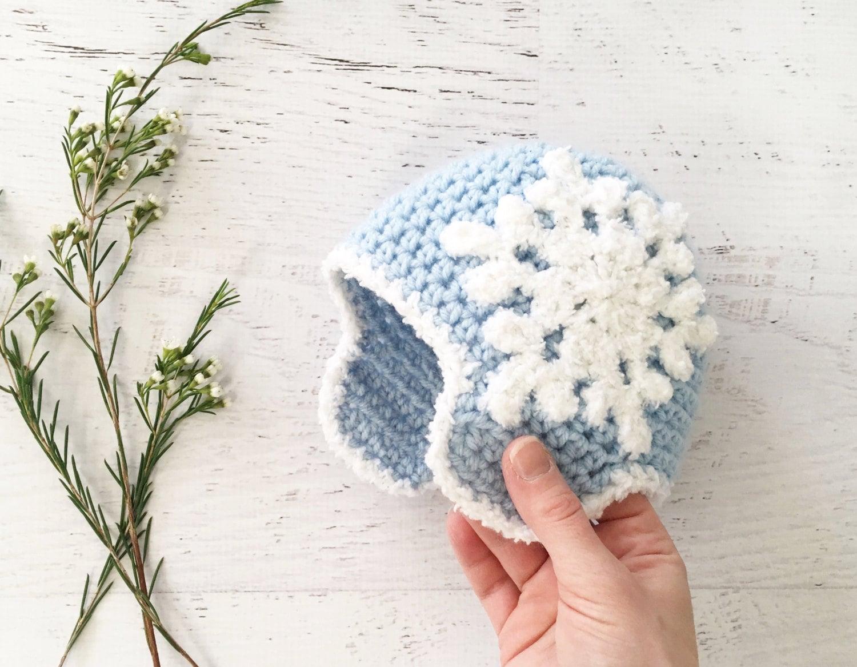 CROCHET PATTERN Let It Snow Beanie crochet hat baby
