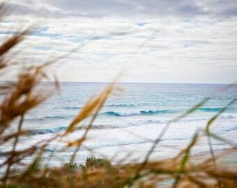 Austalian Beach Photography, Ocean Break, Ocean Sea Summer, Aqua Blue Beach, Surf Decor, Waves Crashing Onshore, Ocean Art, Seascape Art